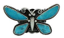 Donovan Cadman, Ring, Kingman Turquoise, Butterfly, Sterling Silver, Navajo, 7