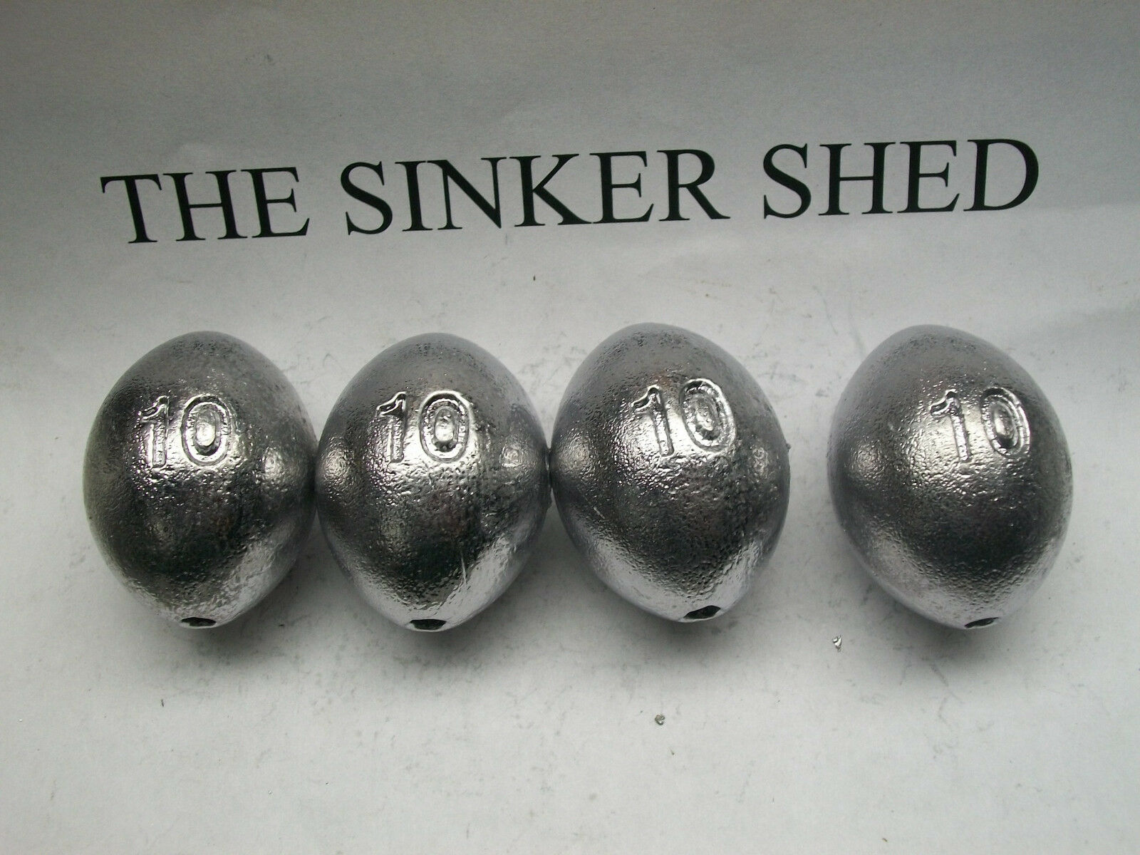 10 oz egg sinkers / decoy weights  - quantity quantity quantity of 5/10/20/30/40/50  FREE SHIPPING 60d8cb
