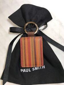 Paul-Smith-Keyfob-Vintage-Stripe-Leather-100-Genuine-Special-Offer