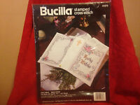 Bucilla Stamped Cross Stitch holy Bible 40876 Bible Cover Kit Nip Dated 1994