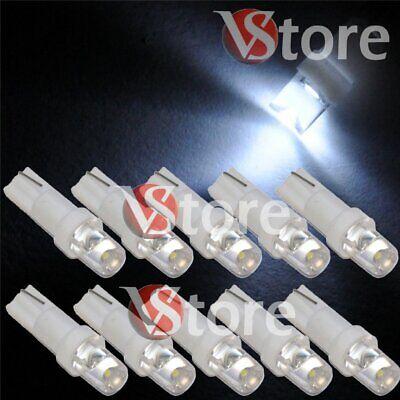 10 Lampade LED T5 BIANCO Luci Per Quadro Strumenti e Posizione CONCAVE Fari 5W