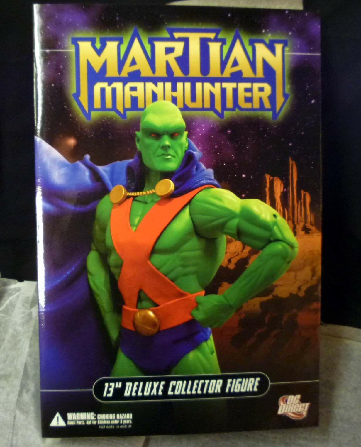 DC  Comics Martian uomohunter 13   Deluxe scatolaed azione cifra bambola 1 6 Scale nuovo .  basta comprarlo