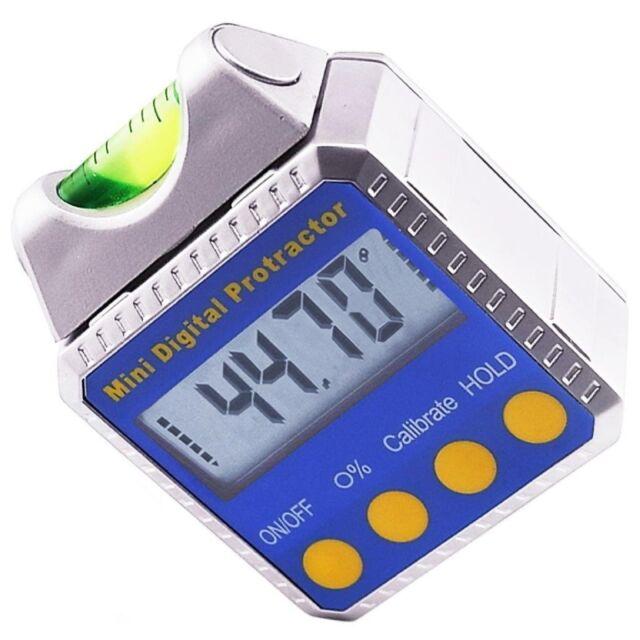 Digital Angle Finder >> 0 360 Electronic Digital Angle Finder Gauge Meter Magnetic Base W Spirit Level