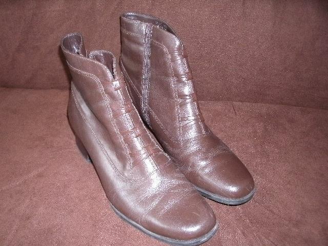 London Fog Memory Foam Broadstreet Brown Leather Ankle Boots Men Size 10 For Sale Online Ebay