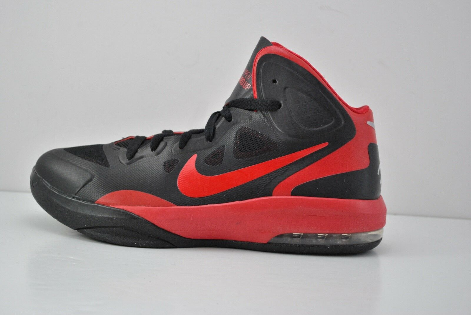 Mens Nike Air Max Hyperguardup Basketball Shoes Size 8.5 Black Red 530954 006