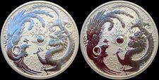 2017 Perth Mint 1oz Plata Dragon y Phoenix error