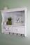 White-Wood-Wall-Unit-2-Drawers-4-Hooks-Hanging-Shelf-Kitchen-Hallway-Storage thumbnail 1
