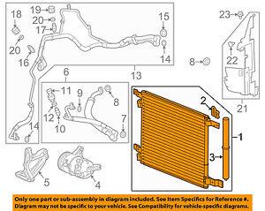 For 2010-2011 Cadillac SRX AC Air Condenser 10 11