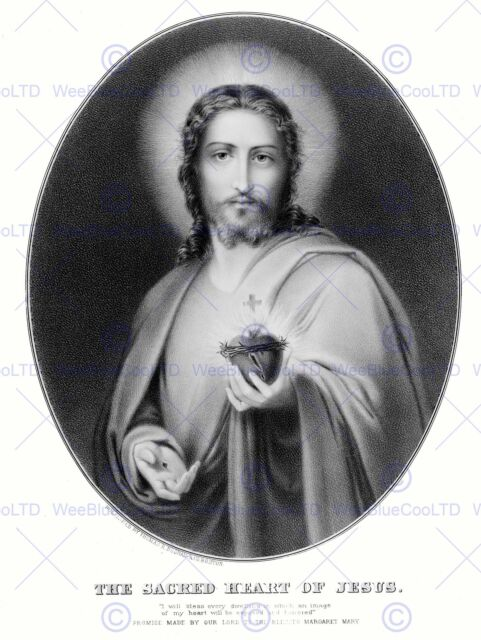 PAINTING ALLEGORY PORTRAIT MESSAGE JESUS SACRED HEART POSTER ART PRINT BB12100B