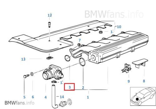 New BMW E36 318tds M41 Intake Manifold Gasket Set of 4  11612245438