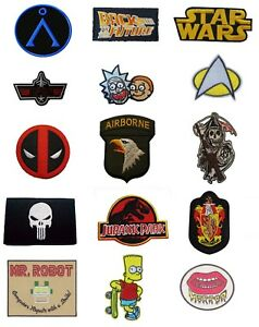 TV-Show-Movie-Film-Cartoon-Iron-On-Sew-On-Patches-Badges-Transfers-Fancy-Dress
