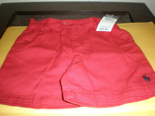 RALPH LAUREN GIRL/'S RED SHORTS NEW WITH TAG 18 MOS.