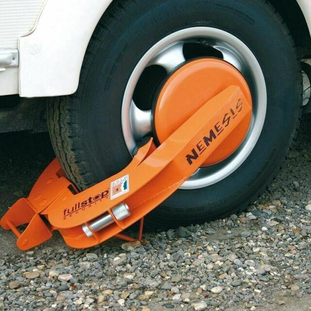 LAS Radkralle Diebstahlschutz Parkkralle für Auto Anhänger oder Wohnmobil