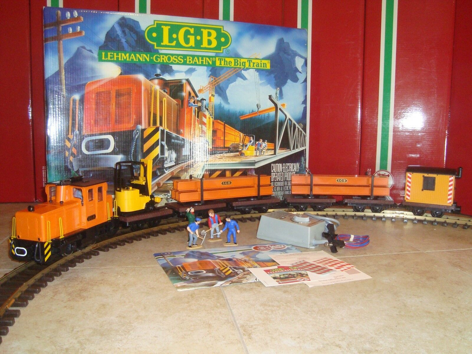 LGB 21990 orange INDUSTRIAL FREIGHT TRAIN SET COMPLETE COMPLETE COMPLETE LN IN BOX FOR CHRISTMAS  0a2595