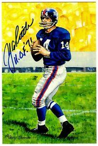 Y-A-Tittle-Signed-Autograph-4x6-Goal-Line-Art-Card-W-HOF-71-SCH-Authentic