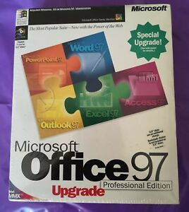 MICROSOFT-OFFICE-97-PROFESSIONAL-UPGRADE-NEW-amp-SEALED-GENUINE-BOXED-WITH-KEY