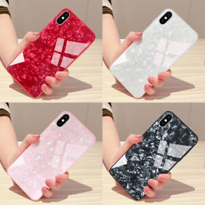 For-IPhone-X-XS-MAX-XR-8-7-plus-Bling-Tempered-Glass-Hard-Back-Shell-Case-Cover