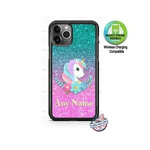 Unicorn Cotton Candy Floral Design Any Text Phone Case Cover For Iphone Samsung Ebay