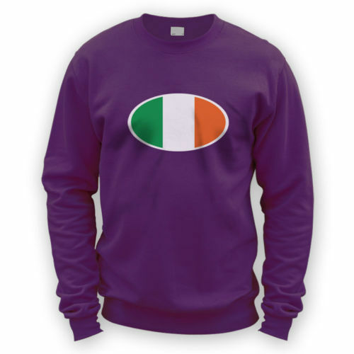 Irish Flag Sweater -x8 Colours- Dublin Beer Football Rugby Ireland Bike