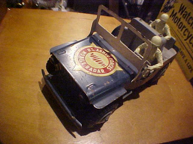 n ° 1 en línea Vintage Jeep Willys De Acero Prensado Prensado Prensado Marx 40s 50s US Fuerzas Armadas móvil radar 2men  mejor servicio