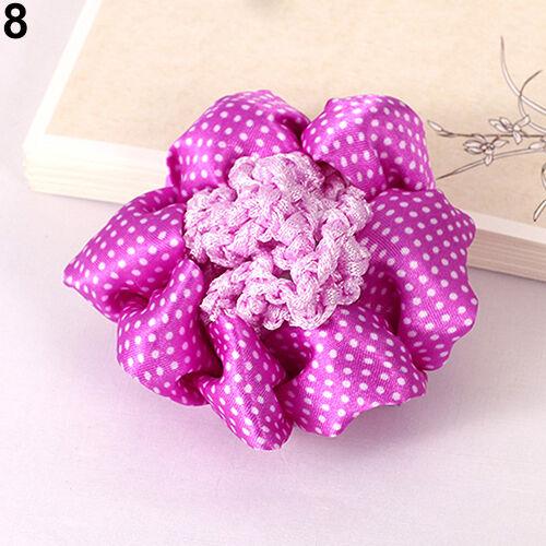 EG/_ Girl Durable Dot Shiny Bun Cover Snood Hair Net Nets Ballet Crochet Hair Ban