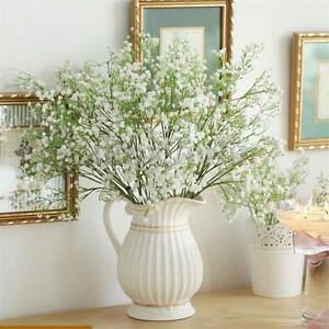Artificial white gypsophila silk flowers bouquet for home wedding image is loading artificial white gypsophila silk flowers bouquet for home mightylinksfo Gallery