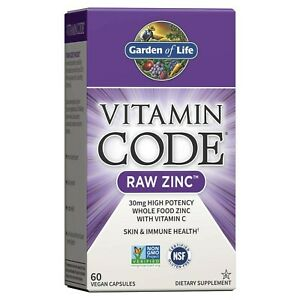 Garden of Life Zinc Vitamin - Vitamin Code Raw Zinc Whole Food Supplement wit...