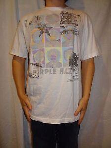 Jimi-Hendrix-Purple-Haze-Stone-Free-White-T-shirt-Size-XL