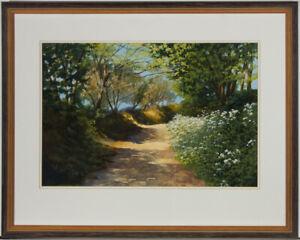 Pauline-Harries-Framed-2002-Watercolour-Summer-Path