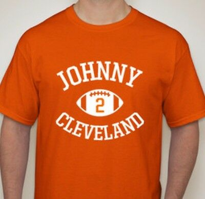 45fdaf37 JOHNNY MANZIEL FOOTBALL T-SHIRT JERSEY CLEVELAND BROWNS ALL SIZES | eBay