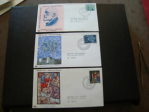 Switzerland-3-Envelopes-1er-Day-1969-1969-1971-cy16-Switzerland