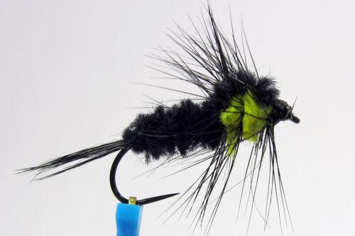 1x Mouche Nymphe Montana H10//12//14 BARBLESS hook fly mosca bead fliegen