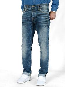 Nudie-Herren-Slim-Fit-Jeans-Hose-Grim-Tim-Used-Black-Coated