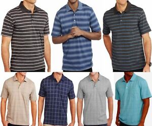 Men-039-s-Pattern-Short-Sleeve-Polo-Shirt-With-Pocket