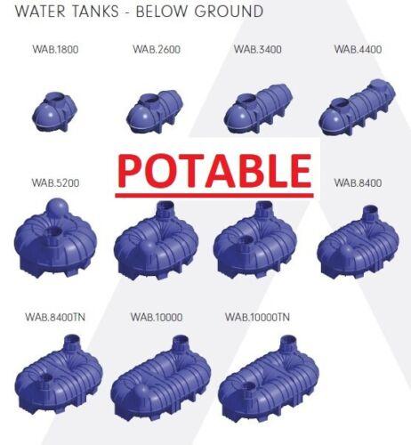Potable Underground Water Tanks
