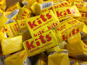 Kits Taffy Chews Banana Flavor Two Pounds Bulk Classic Candy Free Shipping Home & Garden