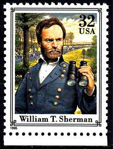 Estados Unidos post frescos mnh Sherman oficial banquero abogado escritor 1995/167