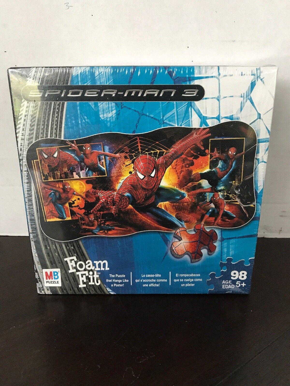 Hasbro Spiderman 3 Foam Fit 98 Piece Wall Puzzle 51016 Free Ship