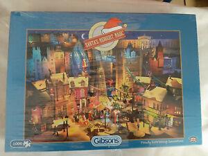 SANTA's Midnight Magic 1000 Pezzi Jigsaw Puzzle Gibsons di Natale