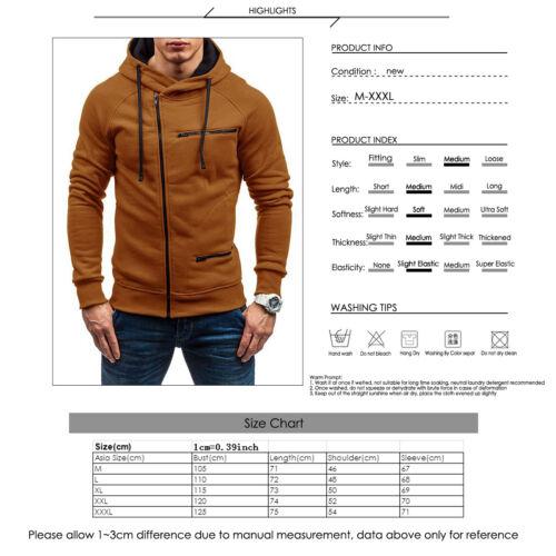 Men/'s Warm Hoodie Hooded Sweatshirt Coat Jacket Outwear Jumper Winter Sweater