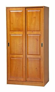 100 solid wood 2 sliding door wardrobe by palace imports for 100 doors door color