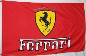 Ferrari F1 Automotive Racing Shell UPS Shop Flag Garage Man Cave Banner 5X3FT