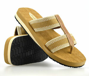 895cdc284 Image is loading Mens-Gladiator-Sandals-Summer-Beach-Cushioned-Walking-Flip-