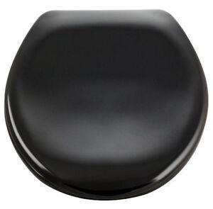 wc sitz deckel mit absenkautomatik farbe schwarz material kunststoff ebay. Black Bedroom Furniture Sets. Home Design Ideas