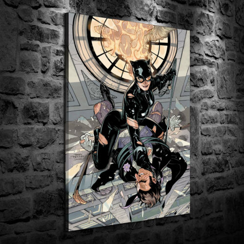 HD Print Oil Painting Home Decor Art on Canvas Catwoman 24x36inch Unframed
