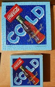 """Vintage Coca-Cola COMPLETE Springbok Mini Puzzle--You're So Cool! 7""""x 7"""" Coke"""
