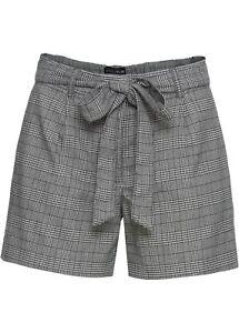 100% Vrai Shorts En Loose Fit Taille 34 Noir Blanc À Carreaux Femmes-shorts-pantalon Bermuda Nouveau-ose Bermuda Neu