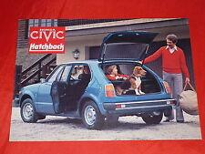 Honda Civic hatchback folleto de 1977