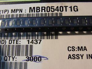 Diode Gleichrichterdiode Schottky SMD 40V 0,5A Ufmax 610mV MBR0540T1G Schottky