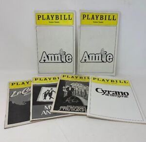 Playbill-Lot-Of-6-Annie-Cyrano-LaCage-Aux-Folles-Sophisticated-Lady-18-1257
